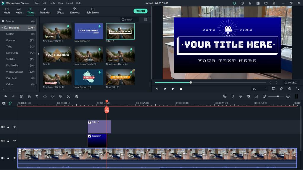 filmora x podstawy - jak montować - tekst napisy