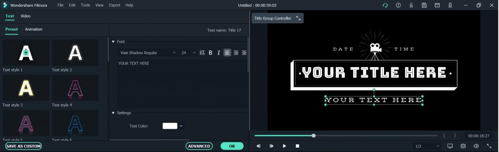 filmora x podstawy - jak montować- tekst i napisy