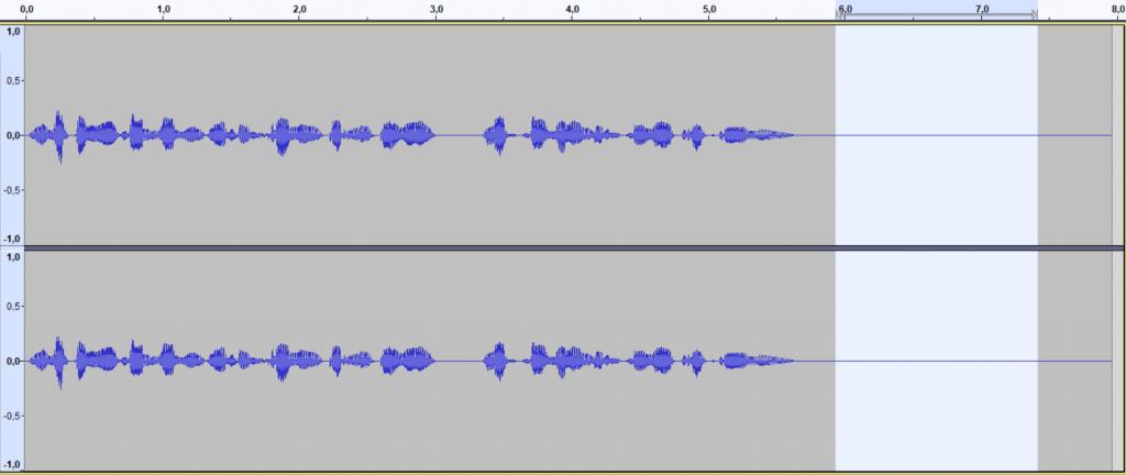 zaznaczanie szumu audacity